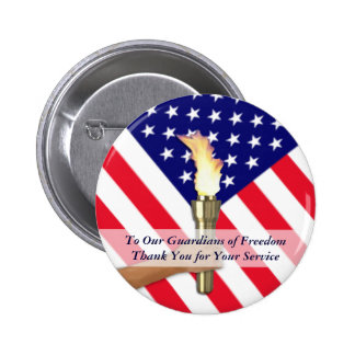 Veteran and Active Duty Military Thanks-Round 6 Cm Round Badge