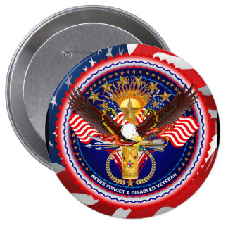 Veteran Customize Edit & Change background color 10 Cm Round Badge