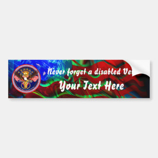 Veteran Customize Edit & Change background color Bumper Sticker