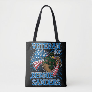 Veteran For Bernie Sanders Presidential Campaign Tote Bag