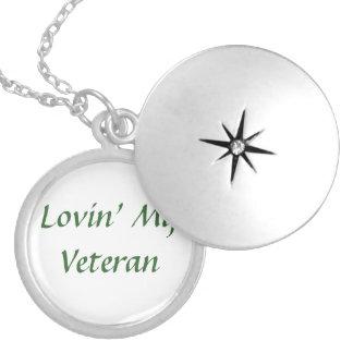 Veteran Love Round Locket Necklace