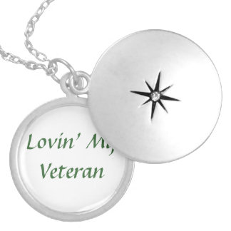 Veteran Love Round Locket Necklace