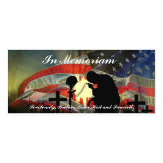 Veteran Memorial Vale of Tears Remembrance 10 Cm X 24 Cm Invitation Card