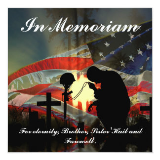 Veteran Memorial Vale of Tears Remembrance Custom Invitation