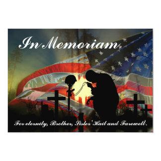 Veteran Memorial Vale of Tears Remembrance 13 Cm X 18 Cm Invitation Card