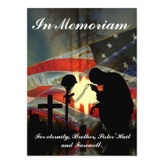 Veteran Memorial Vale of Tears Remembrance 17 Cm X 22 Cm Invitation Card