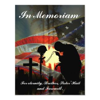 Veteran Memorial Vale of Tears Remembrance Personalized Invite