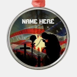 Veteran Memorial Vale of Tears Remembrance Metal Ornament