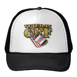 Veteran OEF Dog Tags Cap