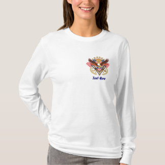 Veteran Over My Heart For Famly or Friend V-Notes T-Shirt