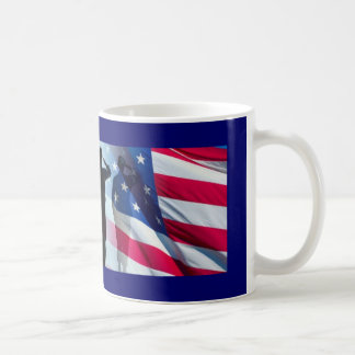 Veteran Salute the Flag Military Coffee Mug