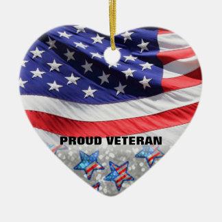 Veteran Soldier Pride USA Flag | Gift for Military Ceramic Ornament
