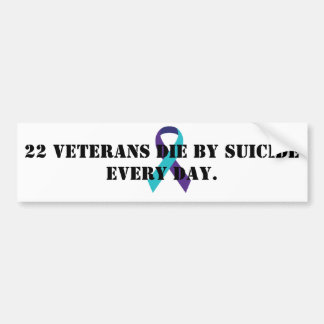 Veteran suicide awareness bumper sticker