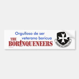 Veterano Boricua 2 - Bumper Sticker