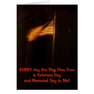 Veterans and Memorial Day Flag Card