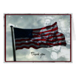 Veterans Day,  American Flag and WWII Veteran Greeting Cards