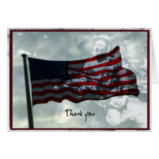 Veterans Day,  American Flag and WWII Veteran Card