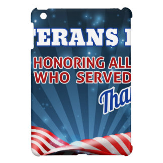 Veterans Day American Flag Background Case For The iPad Mini