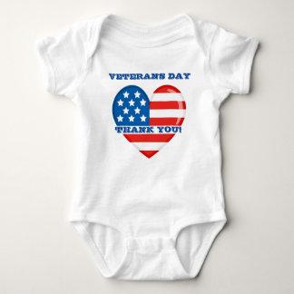 Veterans Day Baby Jersey Bodysuit