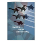 Veteran's Day Blue Angels Salute Card
