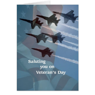 Veteran's Day Blue Angels Salute Card