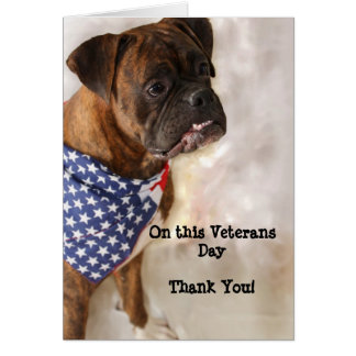 Veterans Day Boxer Greeting Card