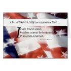 Veteran's Day Flag Card