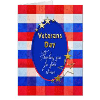 Veterans Day Greeting - American Heros - Thankful Card