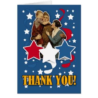 veteran's day - memorial day thank you card