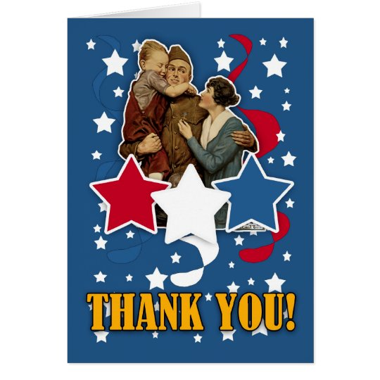 veteran's day - memorial day thank you card