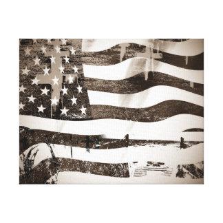 Veterans Day Normandy Beach Canvas Print