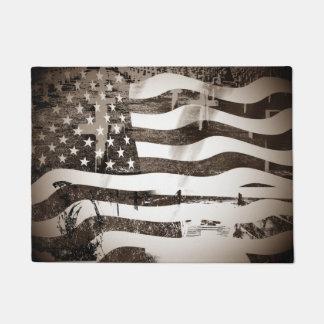 Veterans Day Normandy Beach Doormat