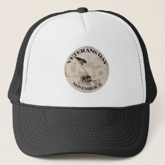 VETERANS DAY NOVEMBER 11 TRUCKER HAT