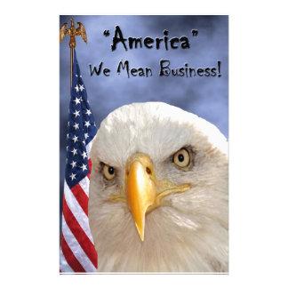"""""""Veterans Day"""" Custom Stationery"""