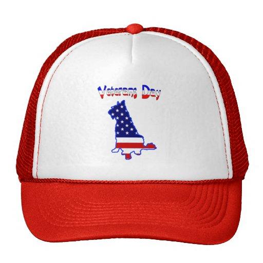 Veteran's Day Terrier Gifts Trucker Hat