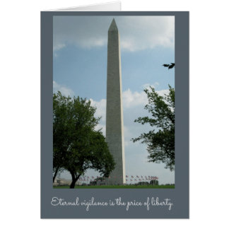 Veteran's Day Washington Monument Card