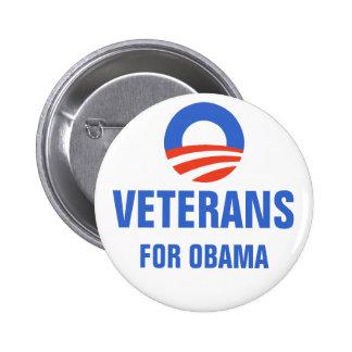 Veterans for Obama 2012 Button
