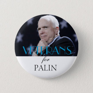 Veterans for Palin 6 Cm Round Badge