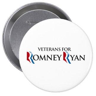 VETERANS FOR ROMNEY RYAN.png 10 Cm Round Badge