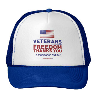 Veterans, Freedom Thanks You. Trucker Hats