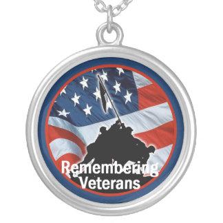 Veterans Round Pendant Necklace