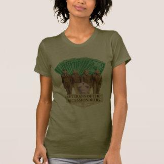 Veterans of the Recession Wars dark ladies t-shirt