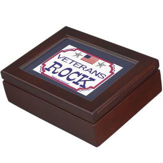 Veterans Rock Keepsake Box