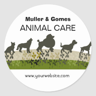Veterinarian Animal Care Appointment Reminder Round Sticker
