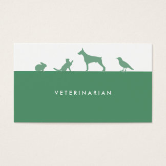 Veterinarian business card