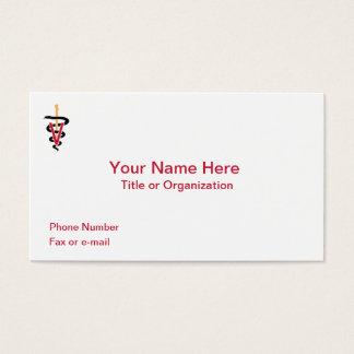 Veterinarian Caduceus Business Card
