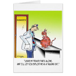 Veterinarian Cartoon 9480 Card