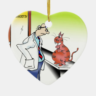 Veterinarian Cartoon 9480 Ceramic Ornament