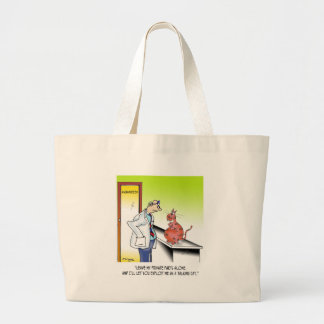 Veterinarian Cartoon 9480 Large Tote Bag