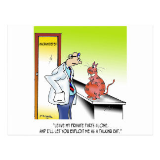 Veterinarian Cartoon 9480 Postcard
